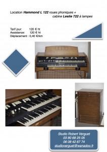 location orgue hammond concert
