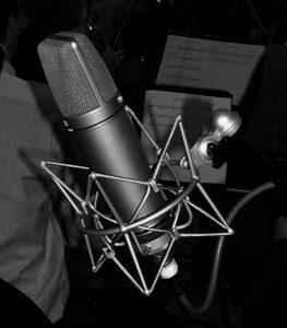 Micro au studio d'enregistrement à Dijon