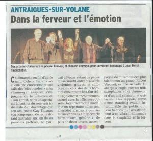 concert jean ferrat à Antraigues